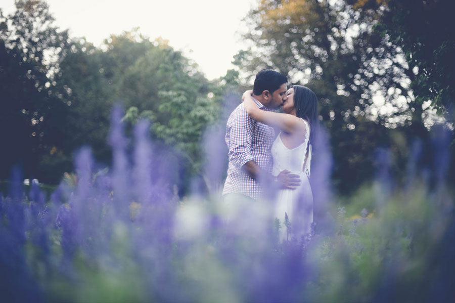 A Botanical Engagement Session with VJ and Reena