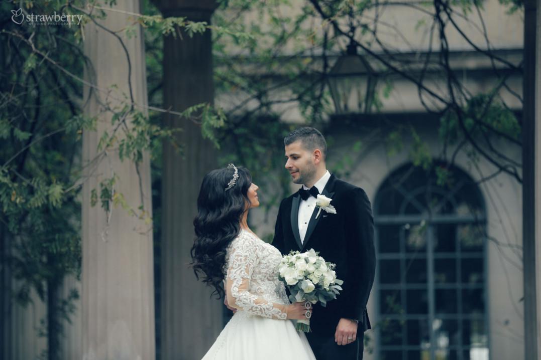 tree-window-smile-wedding-dress-suit