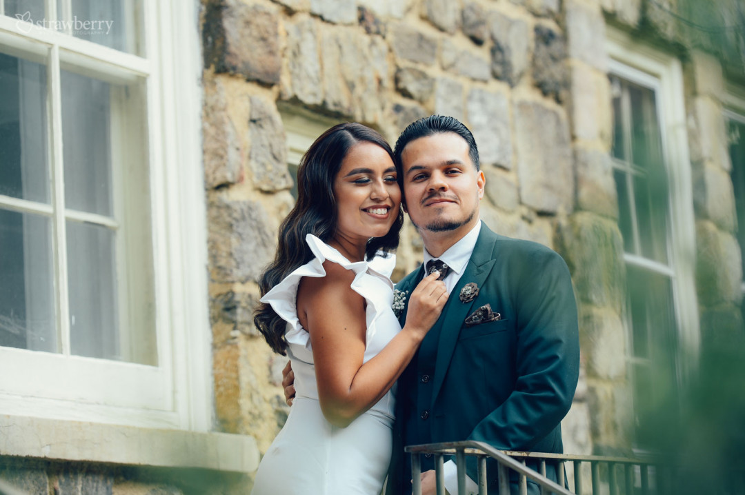 bride-groom-smile-look-window