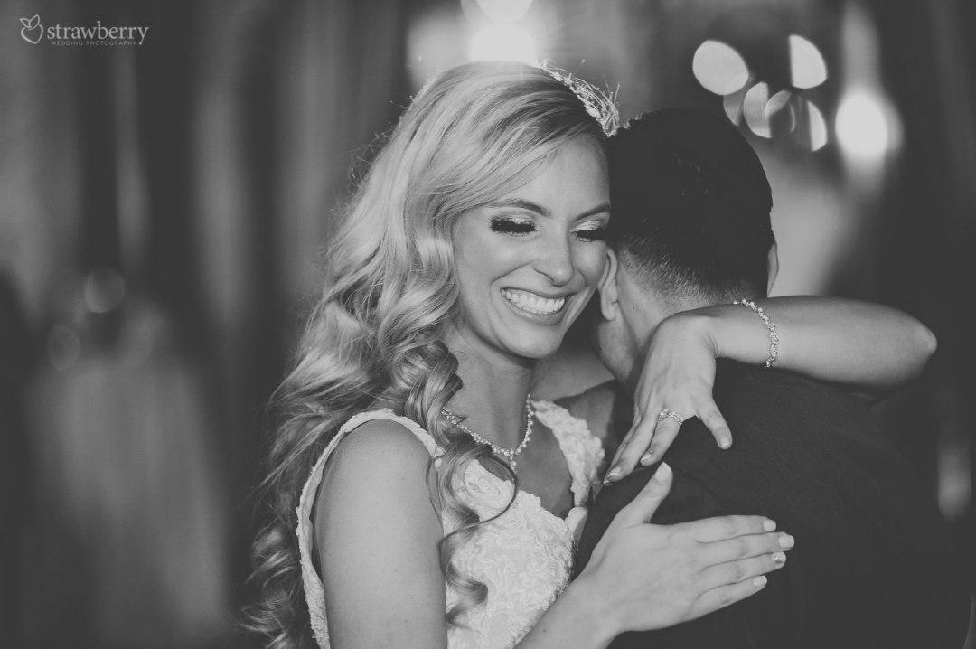 black-white-newlyweds-first-dance-closeness-happiness